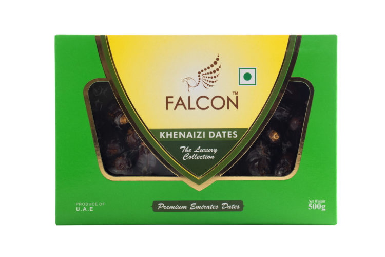 Falcon Khenaizi Dates 500g Box- Front