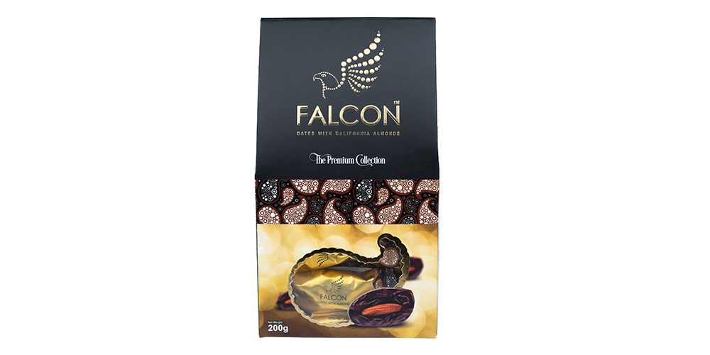Falcon Dates with Almonds (Multi Piece Pack) 200g