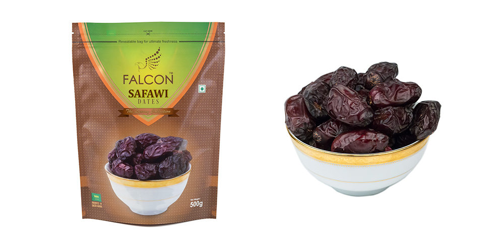 Falcon Safawi Dates (Seeded) Pouch - 500g