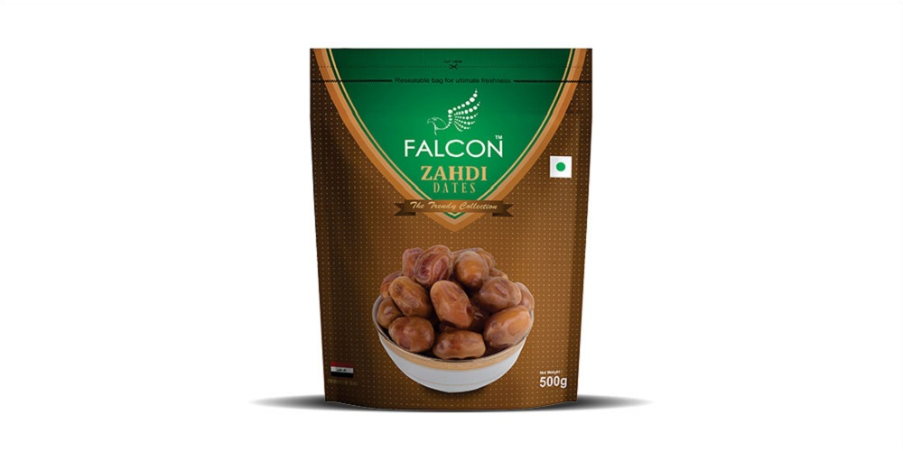 Falcon Zahdi Seeded Dates Pouch- 500g